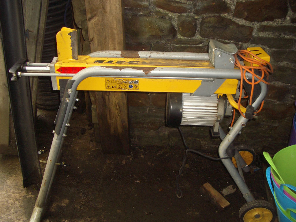 HYDRAULIC LOG SPLITTER ELECTRIC WITH STAND