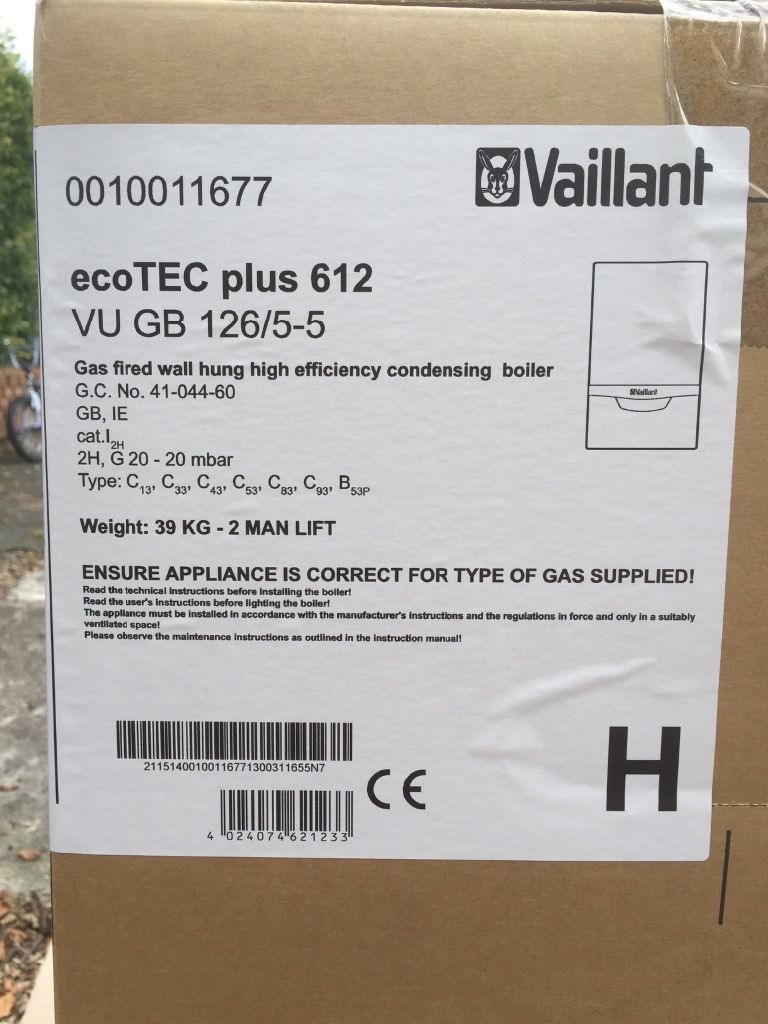 Vailliant Ecotec plus612 12kw system boiler..BRAND NEW..REDUCED!!!