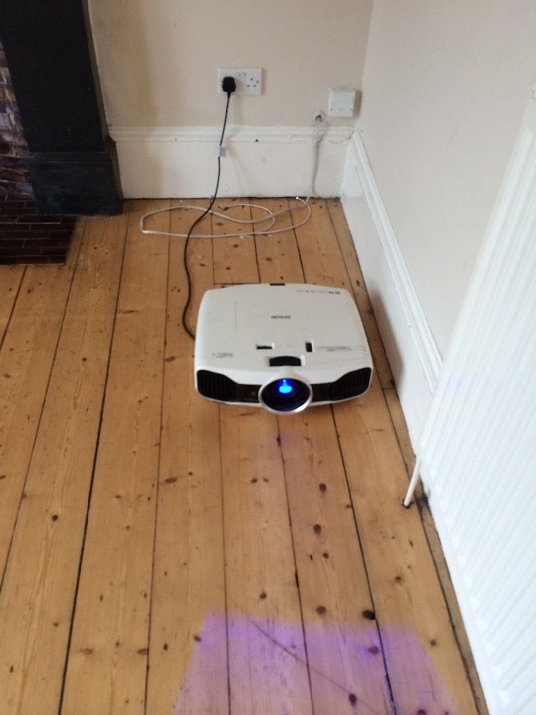 Epson tw9000 projector with 120inch electric screen