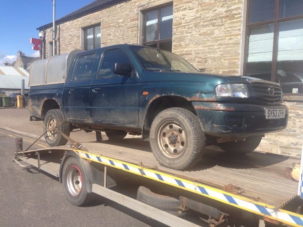 MAZDA 4X4 TRUCK B2500 DIESEL D/CAB. IDEAL EXPORT OR UK USE. 2003.