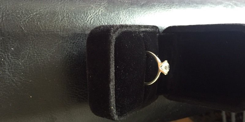 1ct diamond ring set in platinum