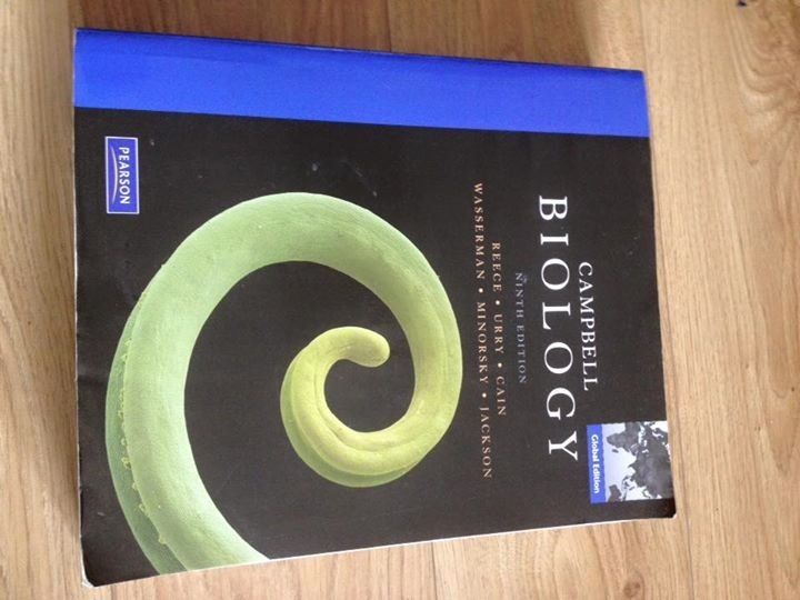 Campbells Biology textbook 9th edition