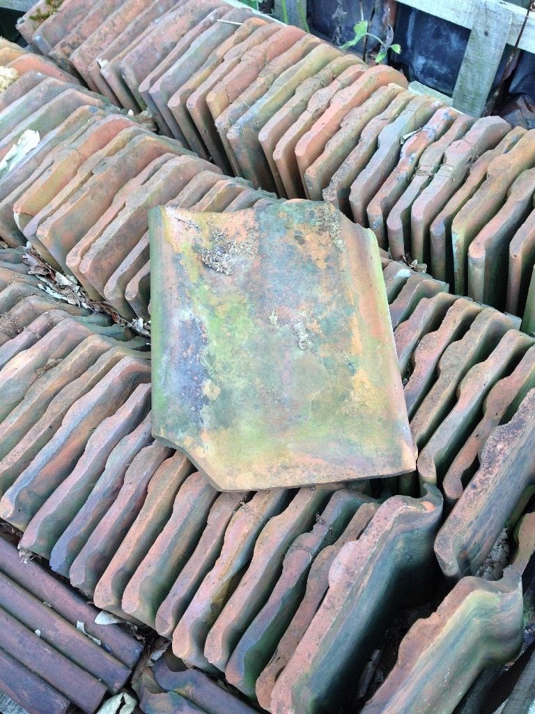Aged Clay terracotta roof tiles X400