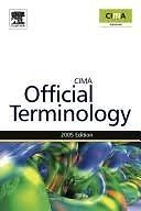 CIMA Official Terminology book MINT CONDITION
