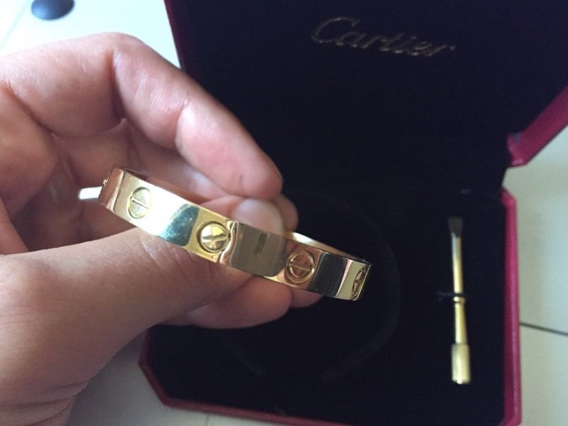 Cartier love bangle stamped 18ct gold