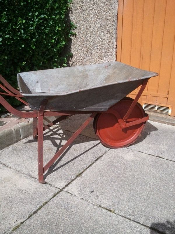 Antique wheel barrow