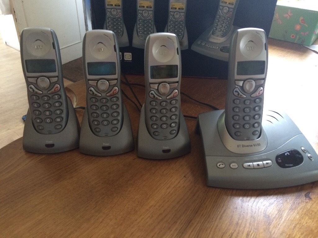 BT DIVERSE 6150 QUAD CORDLESS PHONE & ANSWER MACHINE