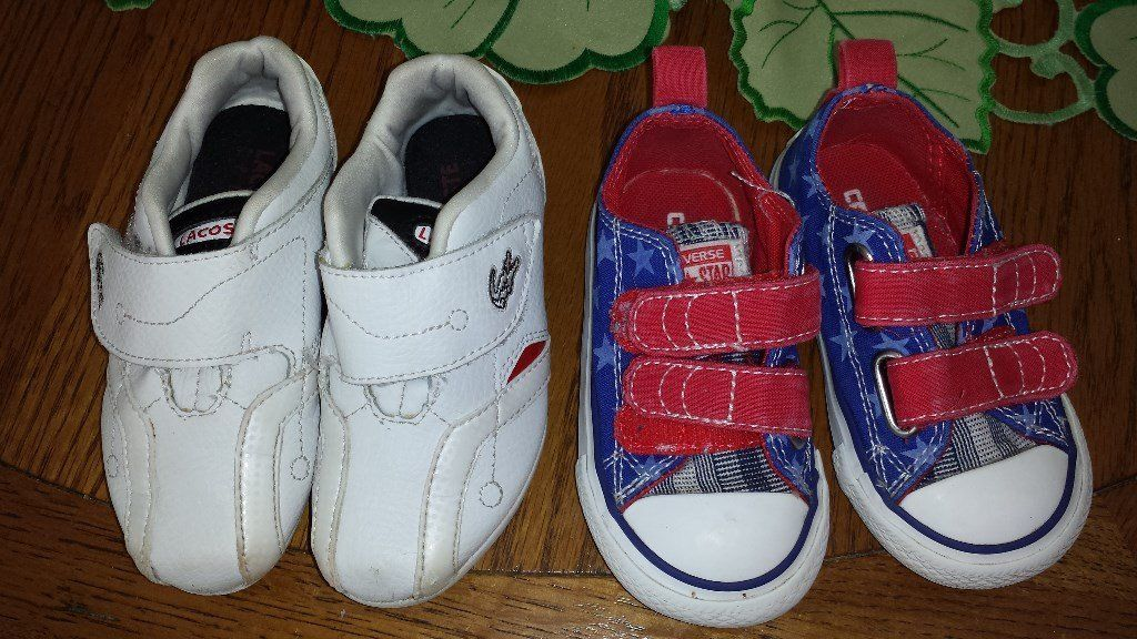 Lacoste and converse all star kids shoes....