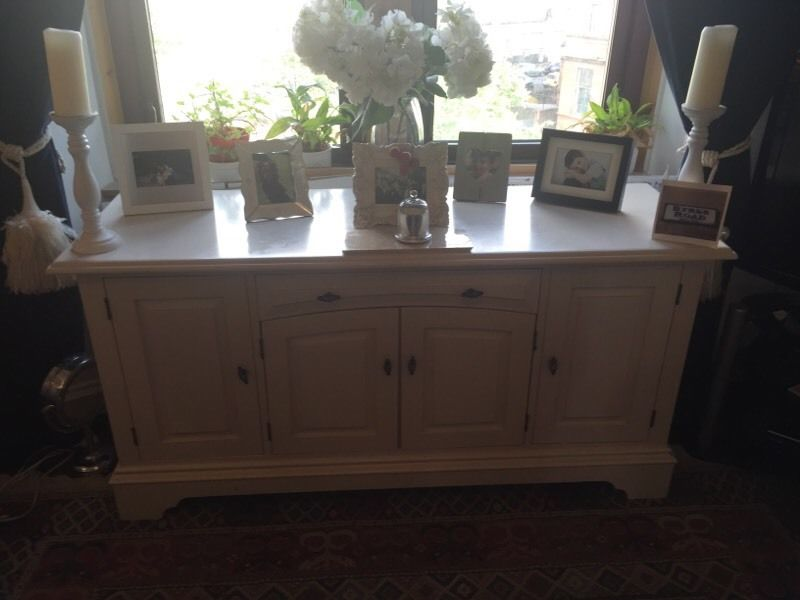 shabby chic sideboard in cream