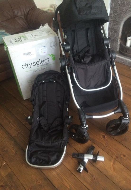 City select single with additional tandem seat NEW (swap for bugaboo donkey/buffalo)