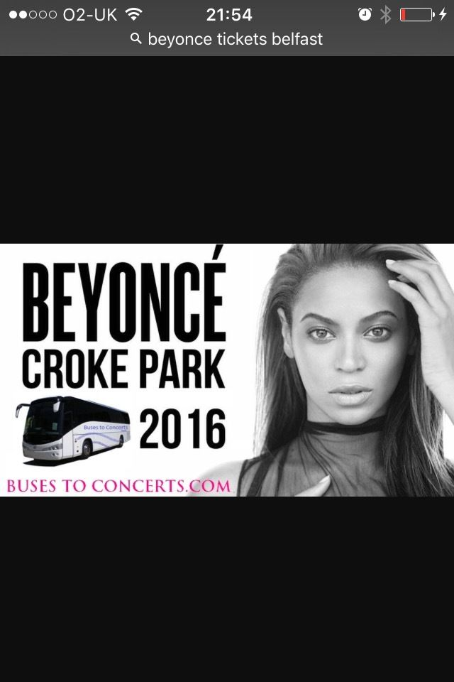 4 standing Beyoncé tickets for Dublin 9th off july