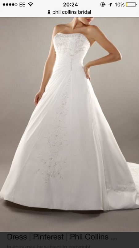 Phil Collins wedding dress
