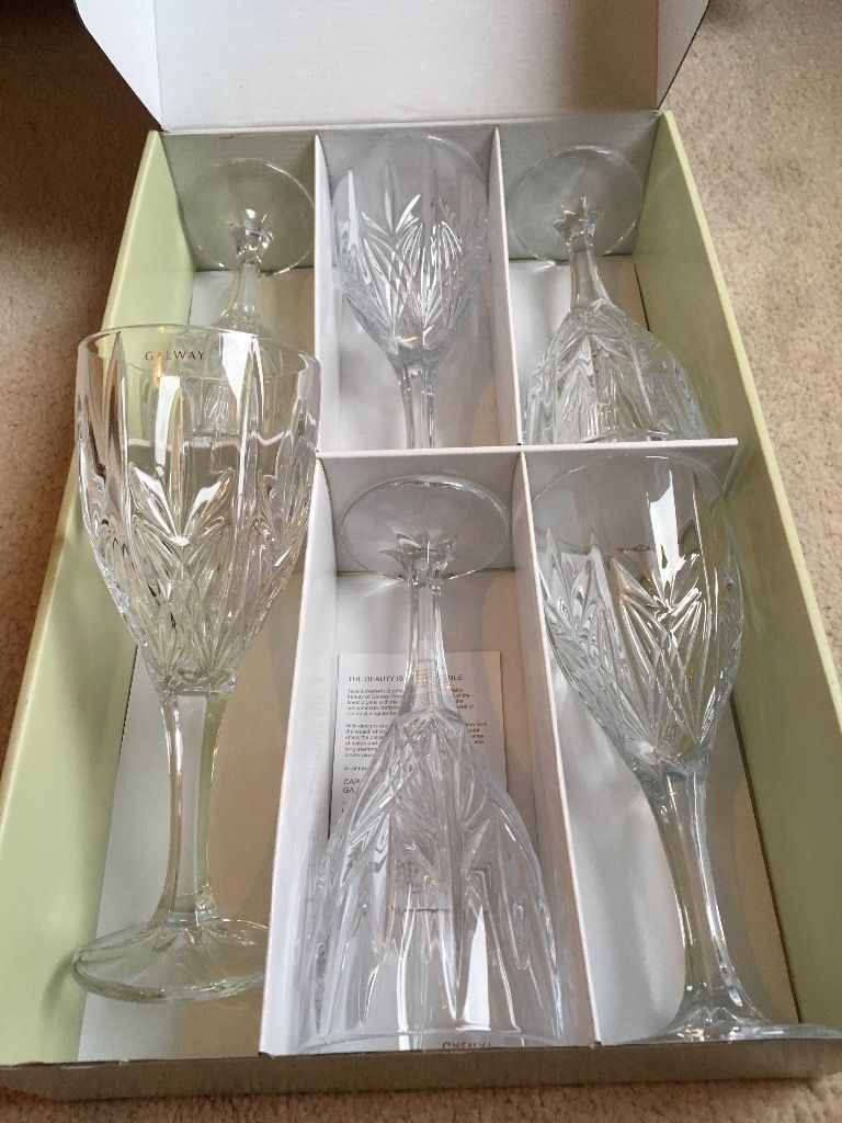 Galway Crystal Wine Glasses