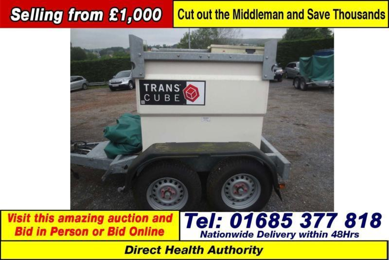 WESTERN TRANS CUBE 960 LITRE TWIN AXLE DIESEL BOWSER TRAILER (GUIDE PRICE)