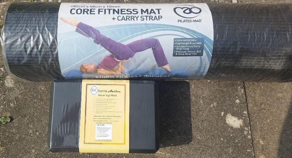 Yoga Mat and Yoga Block - both brand new and sealed.