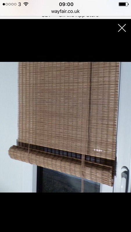 Silver venetian blind boxed plus bamboo blind