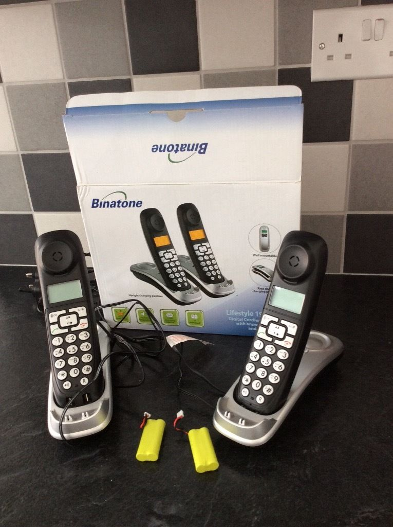 Cordless phones twin pack
