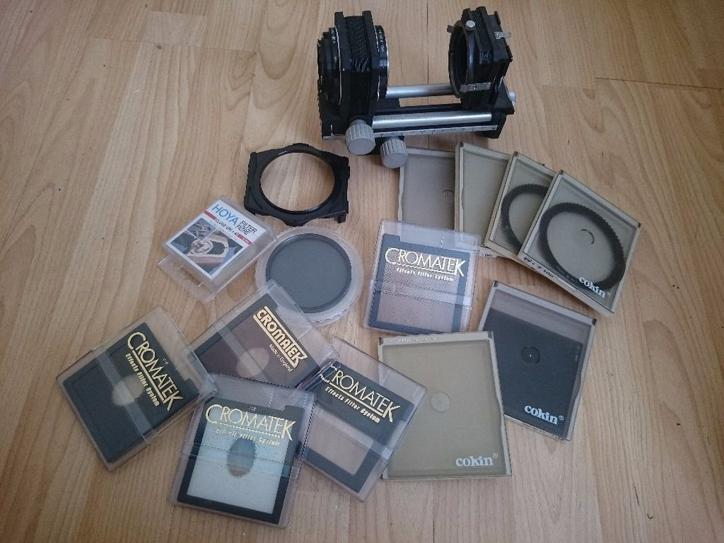 Photography equipment - soft box, carry case, filters, lights, stands, backgrounds. Ad 1/3