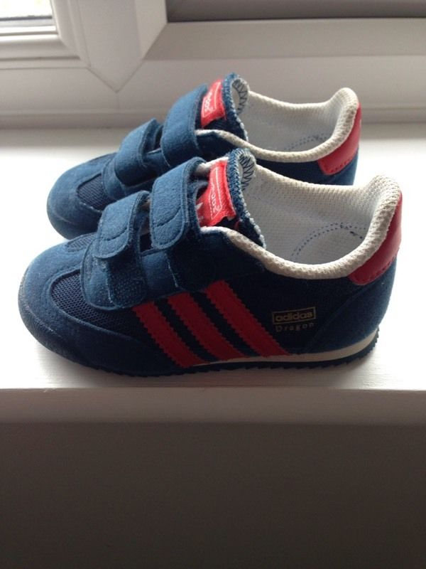 Adidas Dragon trainers toddler size 6