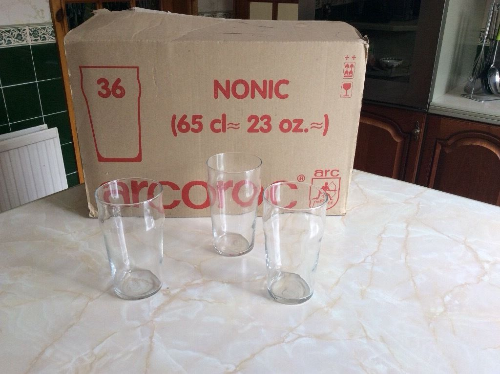 Pint pot glasses.