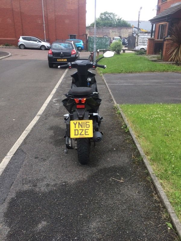 16 plate lexmoto Diablo, for PX only 1100 miles.