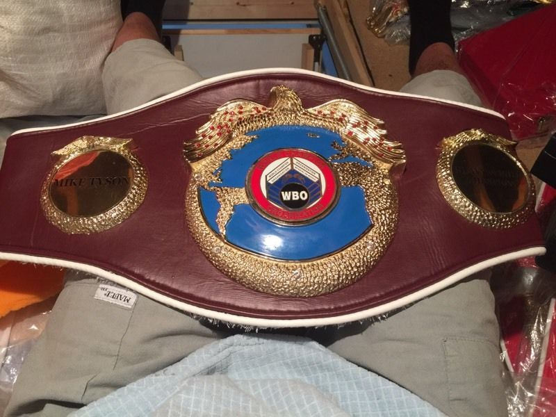 Mike Tyson heavyweight champion boxing belt