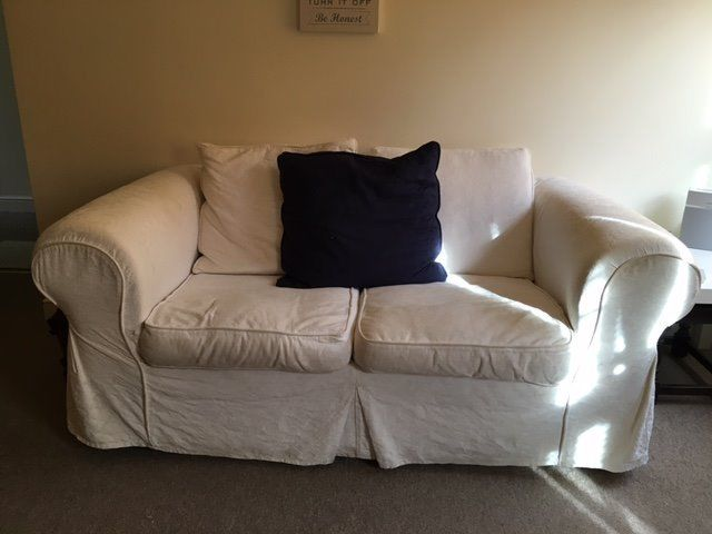 Free 2 Seater White Sofa for collection
