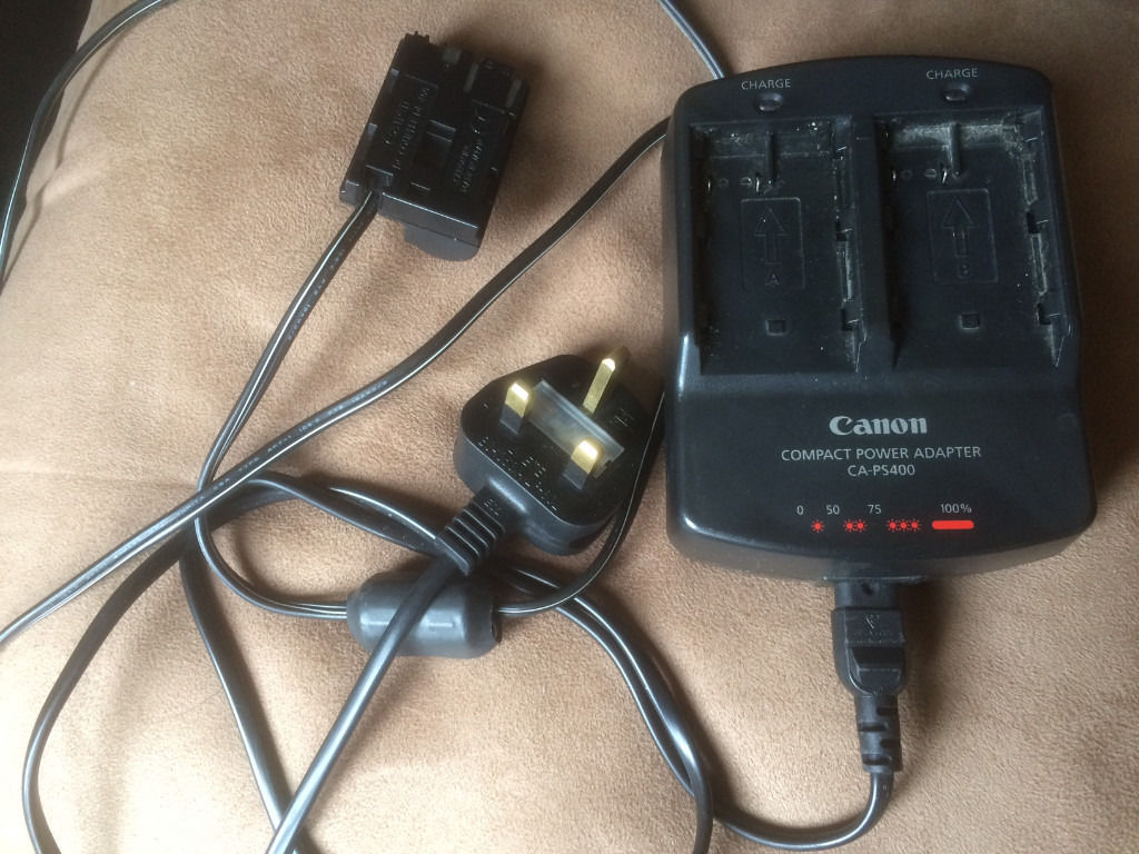 Canon Battery Grip for 10D, 3 x BP-511 batteries, Canon CA-PS400 Charger (plus 10D for repairs)