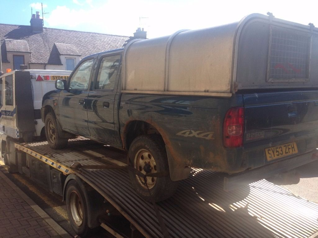 MAZDA B2500 D/CAB DIESEL TRUCK 7 MONTHS MOT WITH CANOPY. 2003