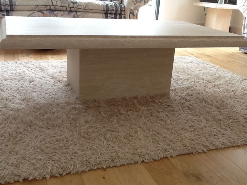 Solid stone coffee table & lamp table