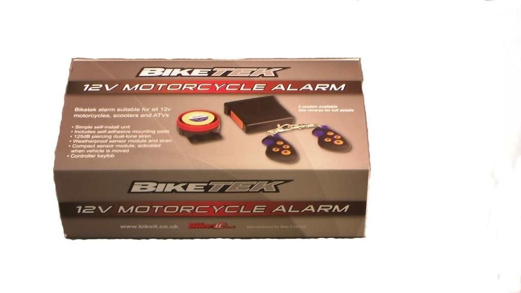 BikeTek 12V Motorcycle/Scooter Alarm - Basic Model