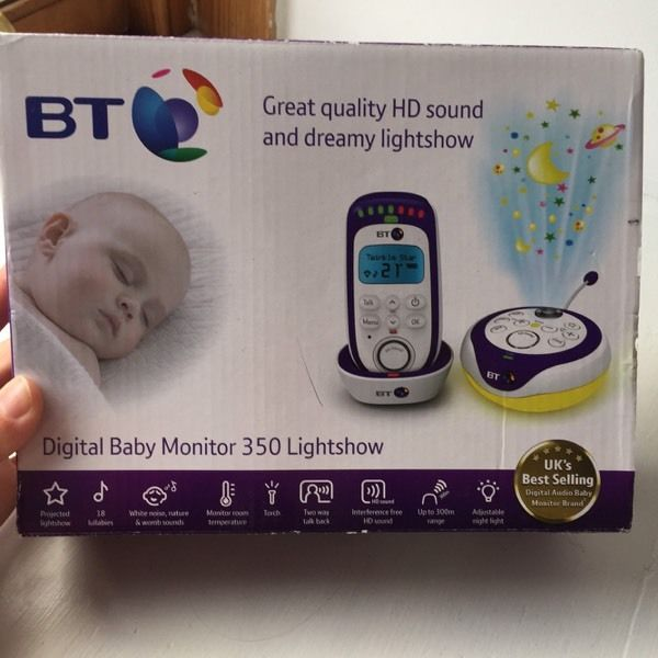BT baby monitor 350 lightshow