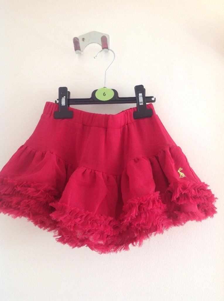 Joules pink twirly skirt - Size 6
