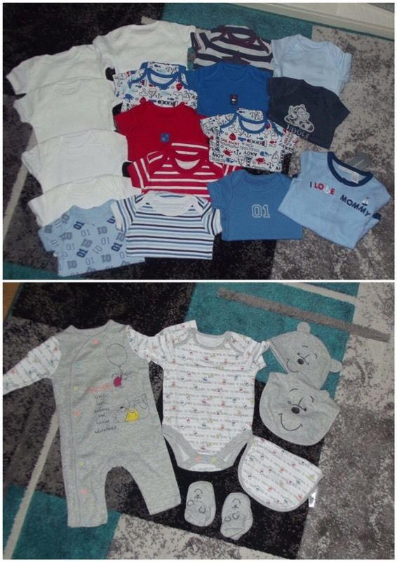 Bundle of baby boys clothing and accessories