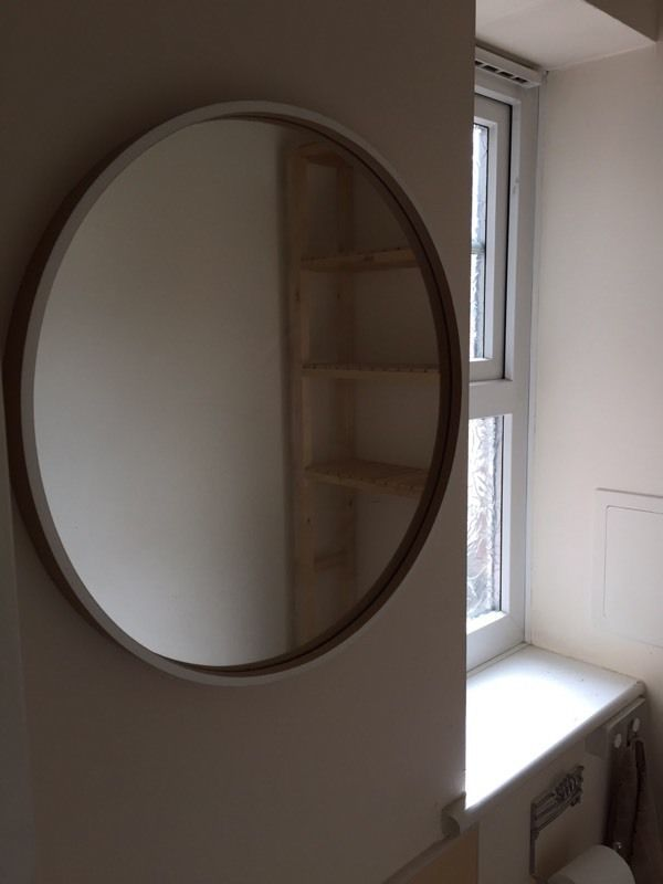 Shelving and mirror