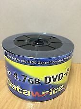 Datawrite DVD-R 16x Full Face White Printable 50 Pack