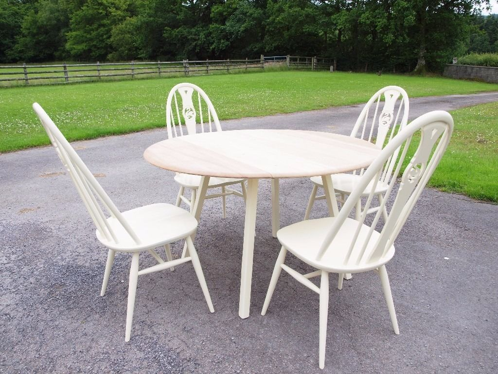 Fabulous Painted Ercol Table and Chairs
