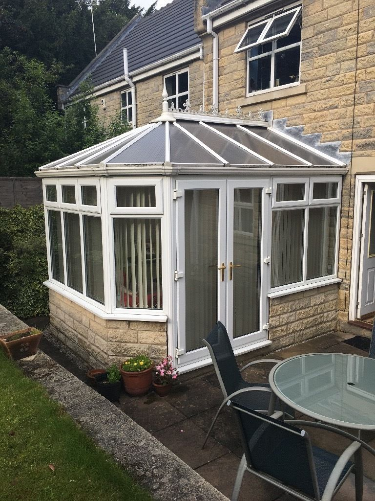 Dwarf Wall Conservatory with blinds