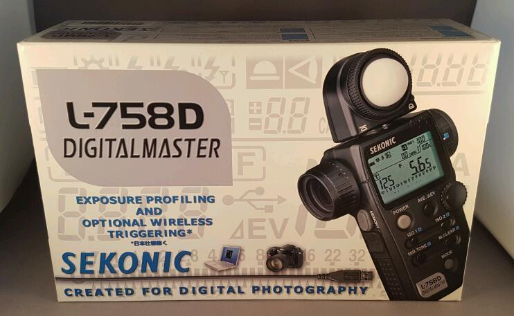 Sekonic L-758D light meter as new!