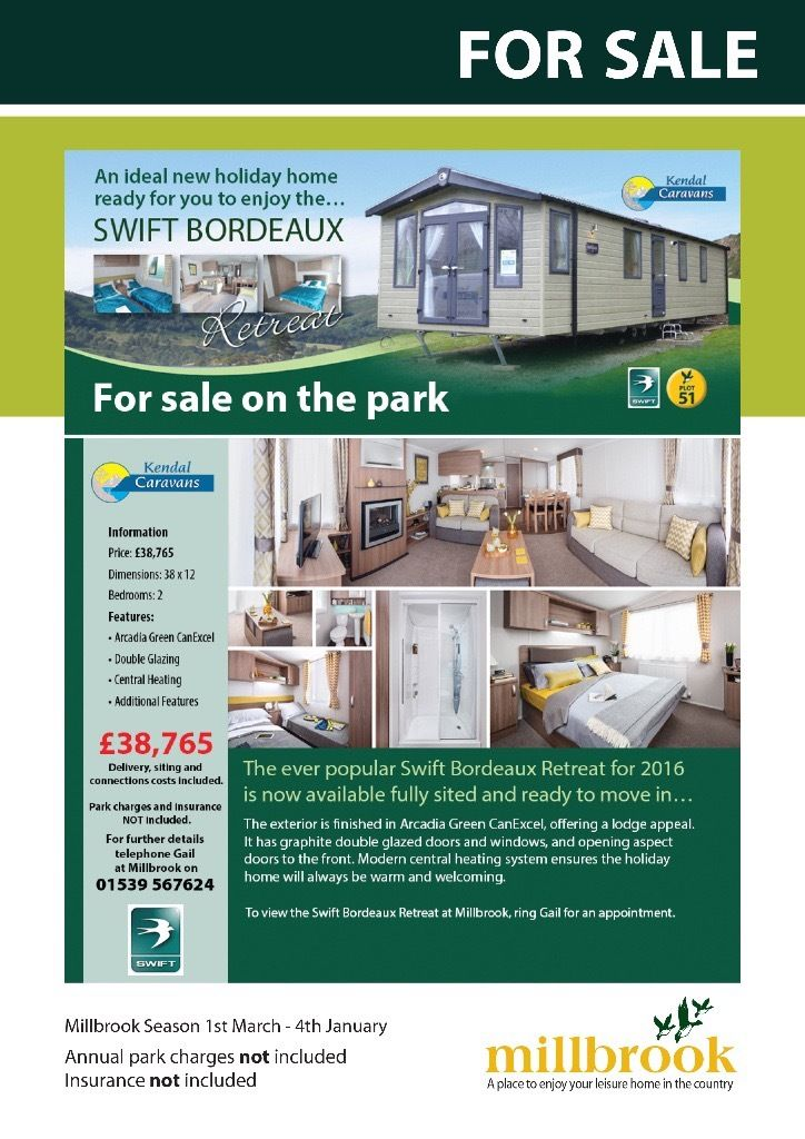 Brand new holiday caravan for sale