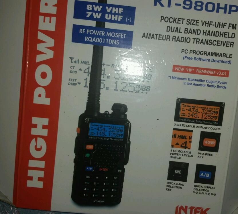 *INTEK KT-980HP, VHF/UHF DUAL BAND TRANCEIVER*