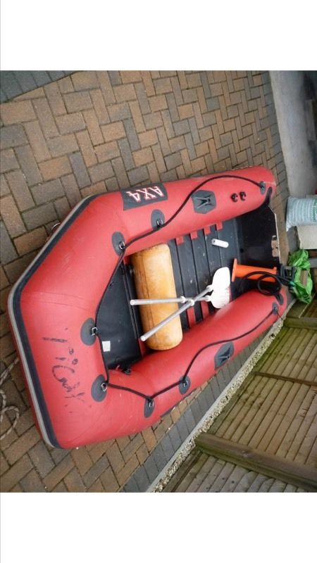 Rib And 4hp Outboard Engine! Inflatable, Dingy, Tender, Boat.