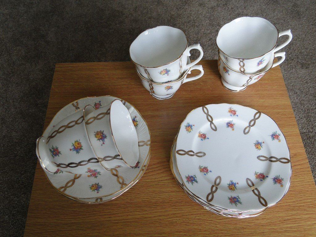 6 Piece Bone China Tea Set