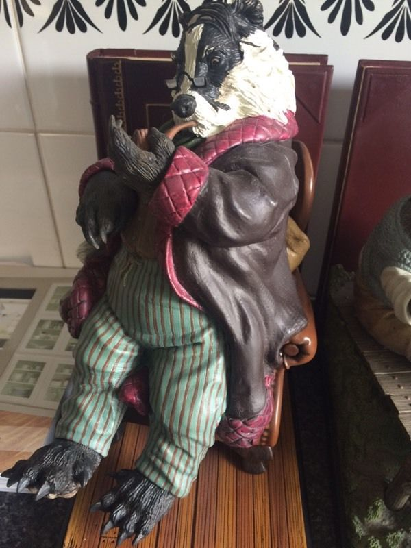 Handcrafted wind in the willows bookends