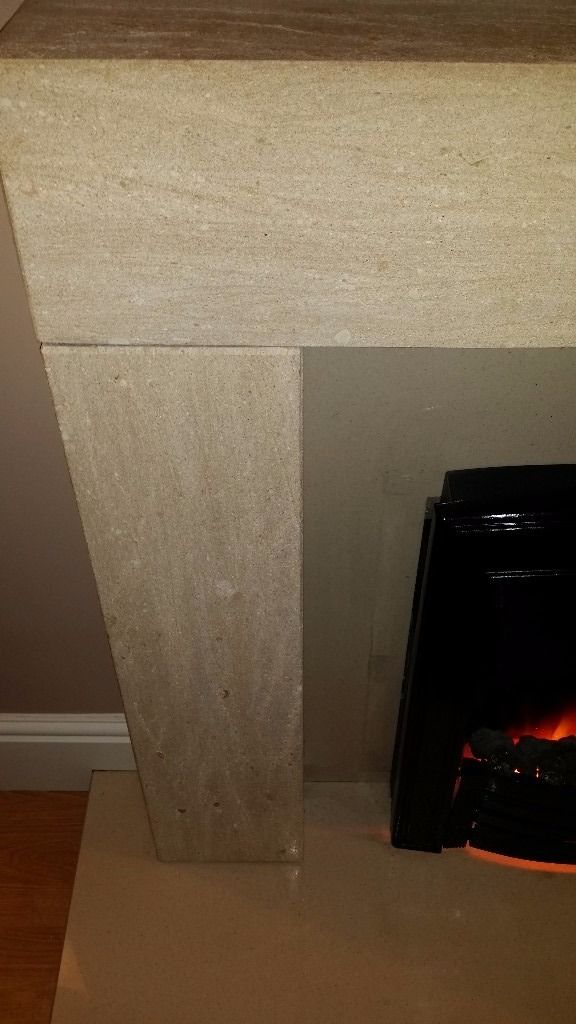 Cream fireplace surround electric fire