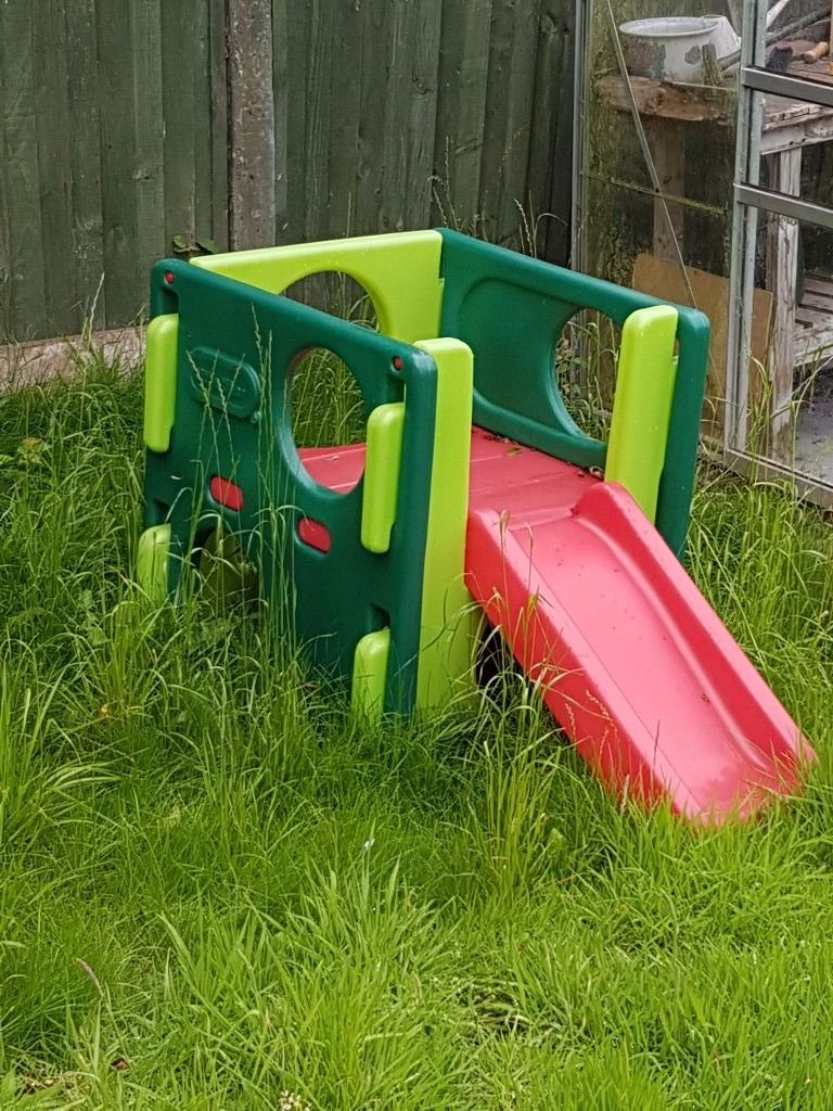 Toddler slide and climbing frame