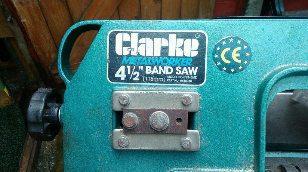 Clarke metalworker 4.5 inch band saw.