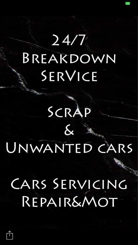 24/7 BREAKDOWN & RECOVERY-- SCRAP WANTED - ACCIDENT REPAIR- MOT SERVICE--CAR SERVICE--DOOR TO DOOR