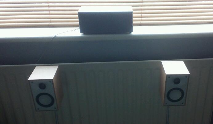 Tannoy Ts10 Subwoofer with 7 Mordaunt Short speakers for 7.1 home cinema system