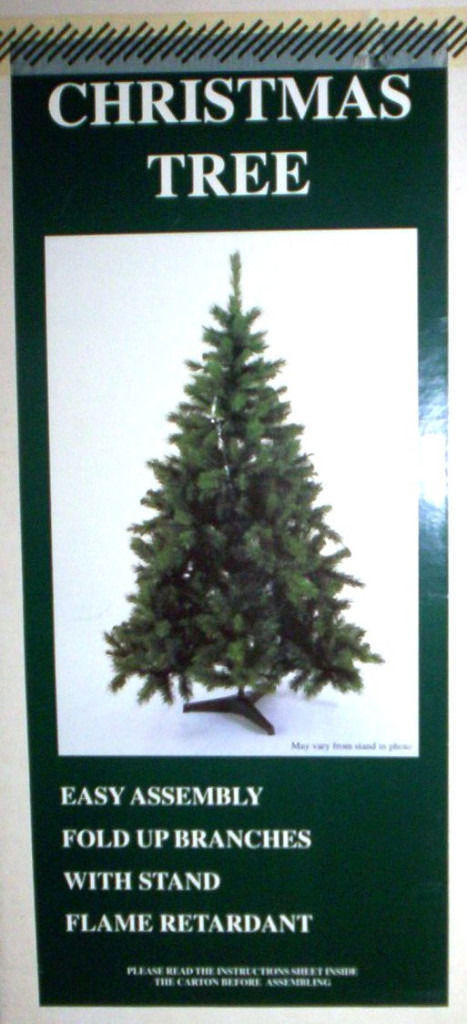 John Lewis 5 foot sable pine artificial Christmas tree. Exc cond. In original box + 32 boxed baubles